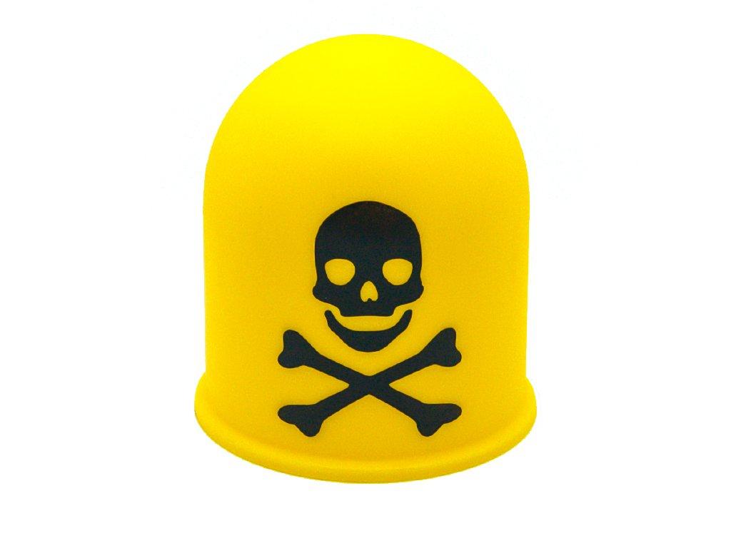 Schutzkappe Anhängerkupplung Deckel Schädel Trike Quad Skull Totenkopf schwarz