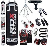 RDX 13PC Boxen MMA Sack 4FT 5FT Boxsack Deckenhaken Set Kickboxen Sandsack...