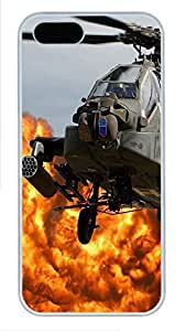 iPhone 5 5S Case Ah64 Apache Helicopter PC Custom iPhone 5 5S Case Cover White