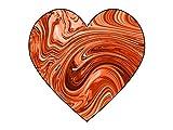 Home Comforts LAMINATED POSTER Orange Swirl Heart 1 Illustrations Poster Print 24 x 36