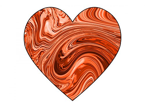 Home Comforts LAMINATED POSTER Orange Swirl Heart 1 Illustrations Poster Print 24 x 36 by Home Comforts