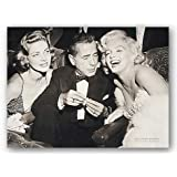 (24x32) Hollywood Triangle Marilyn Monroe Humphrey Bogart Lauren Bacall Movie Poster Print
