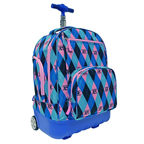 Pacific Gear Treasureland Hybrid Lightweight Backpack, Argyle