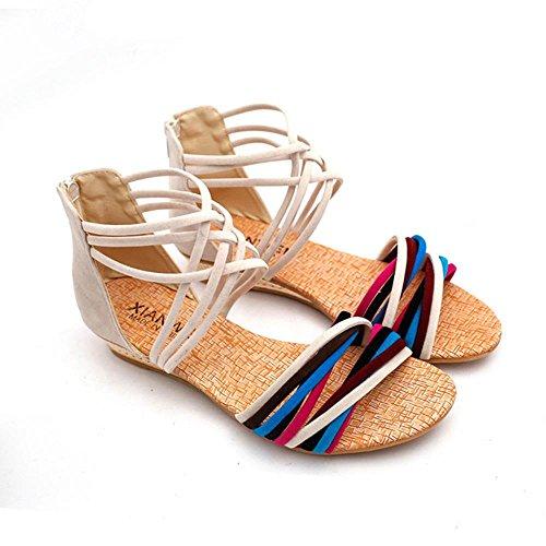 I sandali delle donne di WANGXN combattono le cinghie trasversali di colore dopo la chiusura lampo traspirante , 40