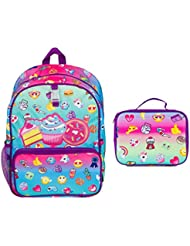 Style Lab Emoji Print Backpack & Insulated Lunch Tote Set