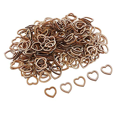 Clearance Sale!DEESEE(TM)100/50pcsWedding Table Decorations Hollow Rustic/Vintage Wooden Hearts Love Con (A) (Centrepieces Vintage Flower)
