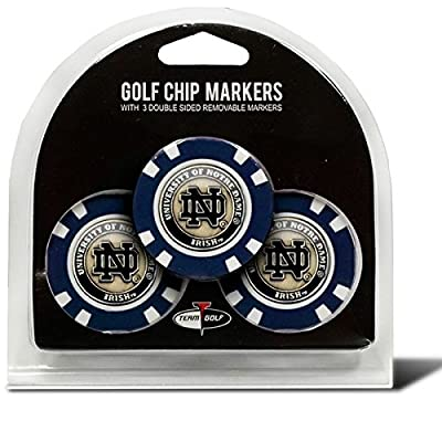 Set of 3 Notre Dame Chips with removable Golf Ball Markers