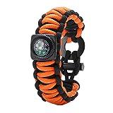 Gonex 550 Paracord Survival Bracelet, Emergency Survival...