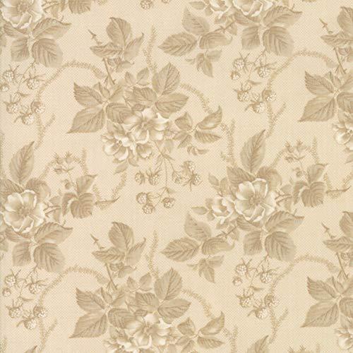 Moda Fabrics 3 Sisters Cinnaberry Almond Dogwood Raspberry Floral Spray ()