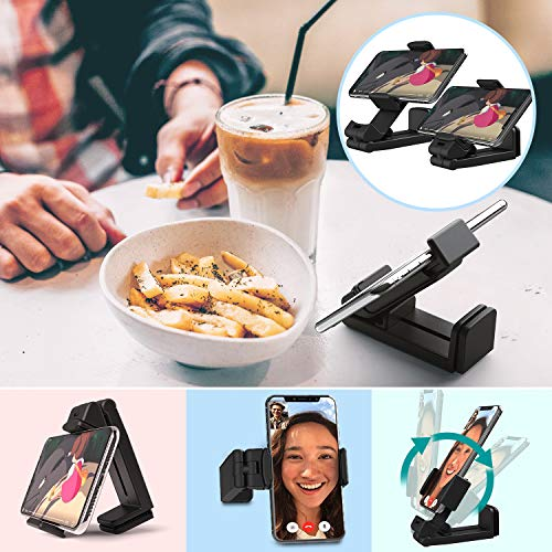 Phone Stand MiiKARE Universal Mount Phone Holder 360 Degree Rotating Adjustable Phone Clamp Compatible with iPhone X XS XR 8Plus Android Phones Portable Phone Mount for Airplane Trays Desk Bed Cabinet Photo #8