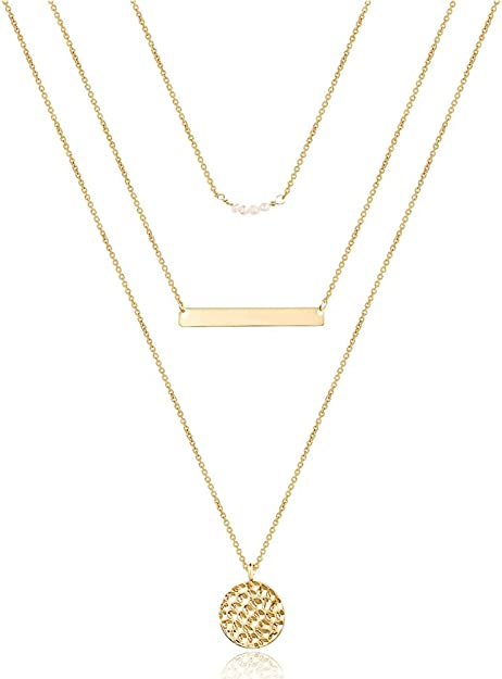 Dainty Gold Choker  Dainty Layered Choker  Gold Disc Choker  Gold Coin Choker  Gift Idea  Birthday Idea  Beaded Choker