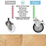 4 Inch Swivel Caster Wheels with Safety Dual