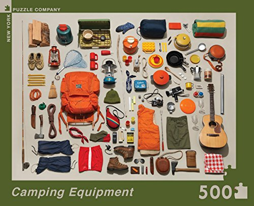 Jim Golden Camping Equipment 500 Piece Jigsaw Puzzle, Camping Jigsaw Puzzle, Outdoor Activity And National Parks Puzzles, Camp Games Kids And Adults Love