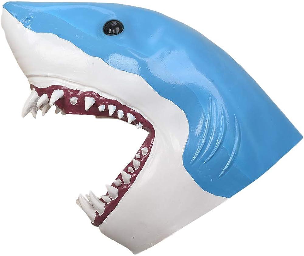 PARTY STORY Shark Mask Halloween Latex Animal Mask Novelty Rubber Costume Full Head Masks