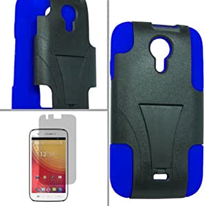 BLUE STUDIO 5.0 BLACK BLUE CROSS HYBRID SLANT STAND COVER HARD GEL CASE + FREE SCREEN PROTECTOR from [ACCESSORY ARENA]