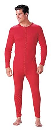 Amazon.com: Red Union Suit - Original Long Johns: Thermal ...
