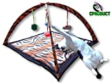 CProduct Activity Center Gym Play Mat with Hanging Mice and Balls Cat Toys - Bengal Tiger