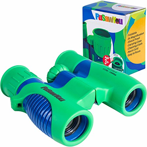 (Binoculars for kids - 8x21 Compact and Lightweight Cool Toys for Boys and Girls - Shockproof, Powerful - Ideal for Hunting - Hiking - Bird watching - Travel - Safari - Stargazing - Camping - Opera)