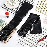 21 Inch Metallic Gloves Long Shiny Opera Gloves
