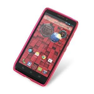 Motorola Droid Ultra Soft Plastic Case - XT1080 (Pink/S Shape pattern) by ModernPalace