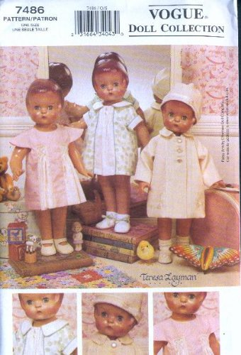Vogue 7486 - 1930's Wardrobe - 18-Inch Doll Clothes Pattern (Vogue Doll Collection, Also sold as Vogue (Vogue Doll Collection)