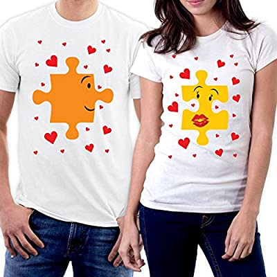 picontshirt Funny Matching Couple Lover Novelty T-Shirts Men M/Women S Design 163