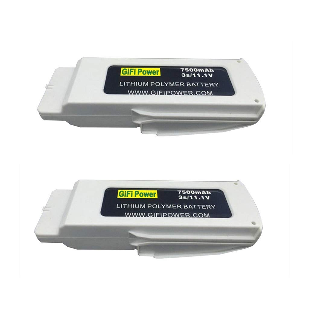 Untellstor 2PCS Upgrade 11.1V 7500mAh Battery Quick Charging Lightweight Portable Compatible with Blande Chroma RC Drone Spare Part (White) by Untellstor