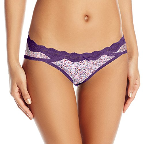 - Maidenform Women's Sexy Must Haves Bikini Panty, Linear Dot Print Valiant Violet, X-Large/8