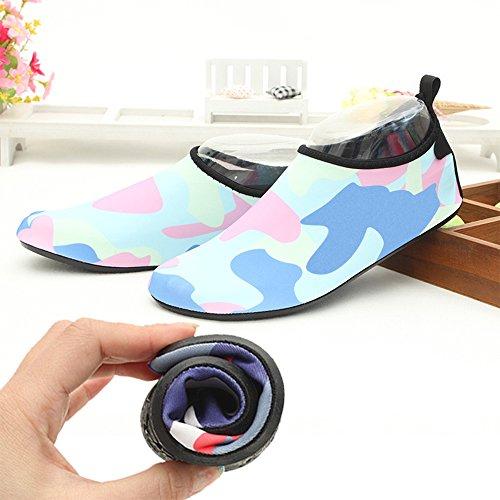 Natation Unisex Chaussures Chaussures de des Barefoot Bleu Douces Plage Clair de Chaussettes de Respirant Chaussures Course Chaussures Eastlion Snorkeling Comme Skid B6wx7qt
