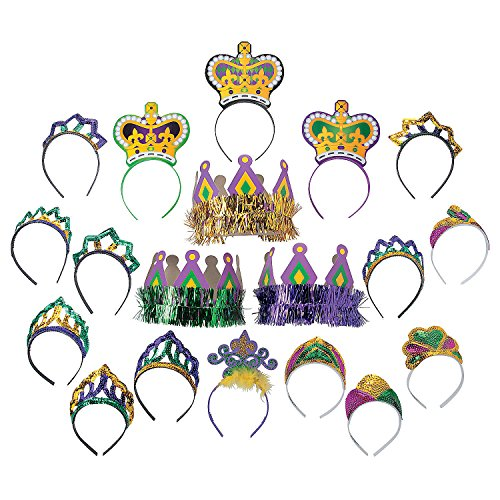 Mardi Gras Tiara & Crown -