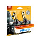 Philips 12362B2 H11 Standard Halogen Replacement Headlight Bulb, 2 Pack