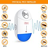 [2018 NEW]Ultrasonic Pest Repeller - Electronic Mouse Repellent & Mosquito Repellent Plug in Pest Control - Bug Repellent for Mice,Rat,Bug,Flea,Roach,Ant,Fly - No More Mouse Traps,Sprayers & Oils
