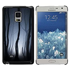 Design for Girls Plastic Cover Case FOR Samsung Galaxy Mega 5.8 Spooky Forest Lights Grey Night Scary OBBA