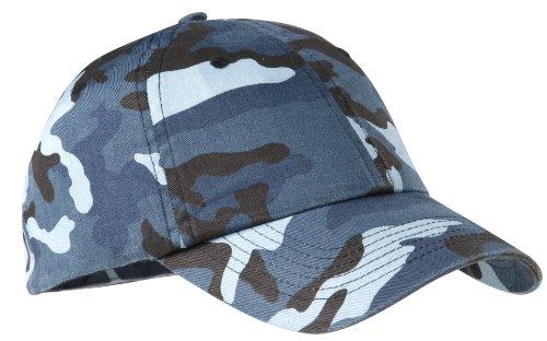 Port Authority Men's Camouflage Cap OSFA Navy -