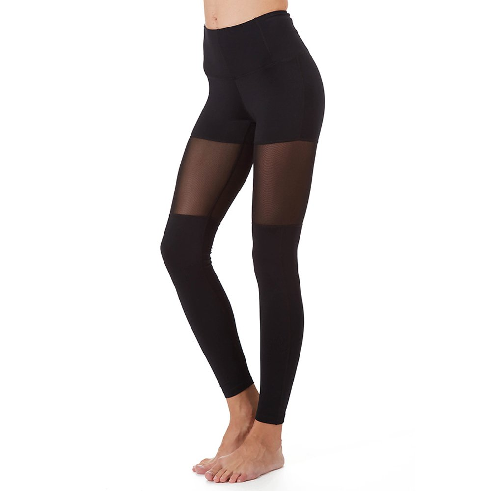 PRJON Form Fitting Leggings With Mesh Panels Black Medium