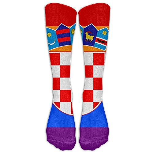- NUNOFOG Men's & Women's Sock Croatian Rainbow Flag Stylish Athletic Socks,One Pair