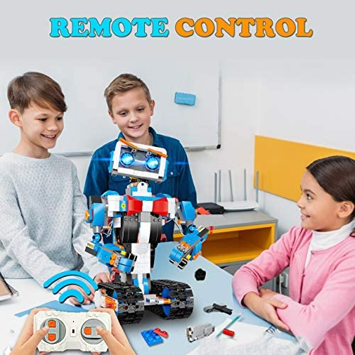 51Y9QUpMnuL. AC  - okk STEM Robot Building Block Toy for Kids, Remote and APP Controlled Engineering Science Educational Assembling Learning Kits Intelligent Rechargeable Creative Set for Boys Girls Gift (635 Pieces)