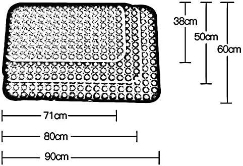 GHHQQZ 2個 バスルームラグ ノンスリップ 厚い 吸盤 PVC フットパッド キッチン バスルームのカーペット、 8色、 厚さ1.5cm、 複数のサイズ (Color : B, Size : 71x38cm)