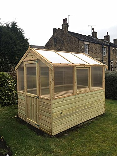 10×6-Pinelap-Wooden-Greenhouse-Tanalised-TG-Shiplap-With-Glazing