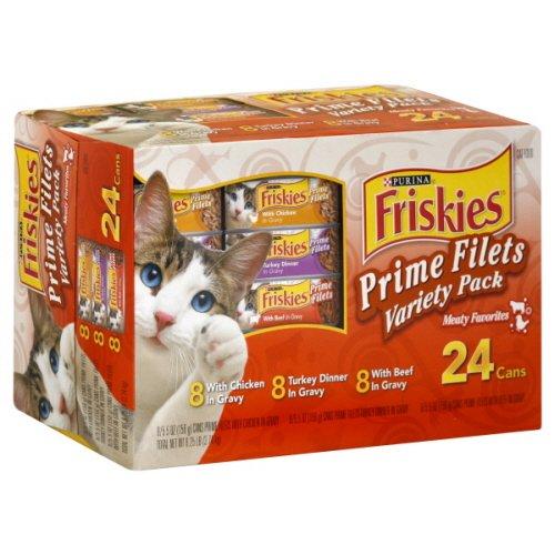 Friskies Cat Food, Prime Filets Variety Pack, Meaty Favorites, 8.25 Lb, ( Pack of 2 )