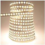 LEDENET 16.4ft LED Flexible Light Strip,600 Units SMD 5050 LEDS,24V Non-waterproof LED Ribbon Warm White and Daylight White Adjustable 2800K-7000K