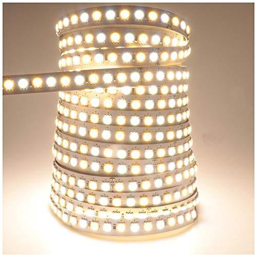 LEDENET 16.4ft LED Flexible Light Strip,600 Units SMD 5050 LEDS,24V Non-waterproof LED Ribbon Warm White and Daylight White Adjustable 2800K-7000K by LEDENET