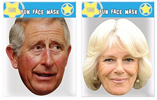 Charles & Camilla - Twin Pack - Celebrity Face Masks