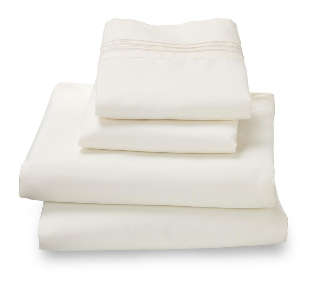 Where the Polka Dots Roam 100% Ultra Soft Microfiber Easy Care Luxury Sheet Set, Twin XL, White FBA_B00HUT9OZG