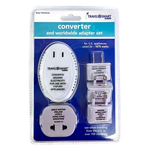 Price comparison product image Travel Smart Converters and Worldwide Adapter Set 1875 Watts