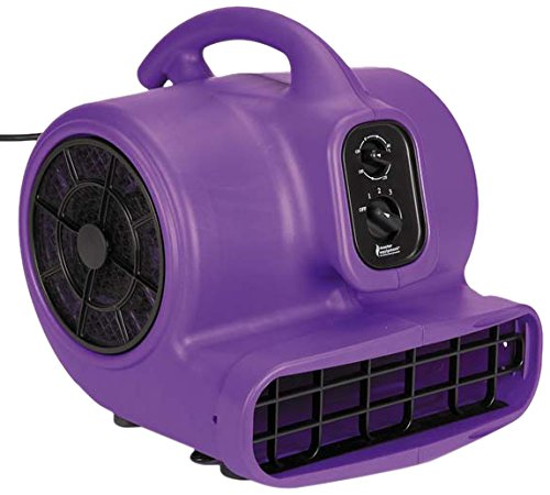 Master Equipment PetEdge Blue Force Air Dryer with Cage – Quiet Pet Fur Dryer Offers 3 Speeds Up to 2,000 CFM, 0.33 ()