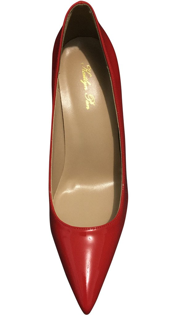 Kaitlyn Pan Genuine Leather All Red High Heel Stiletto Pumps B01L0XTL8M 6US/ 36EU/ 36CN All Red