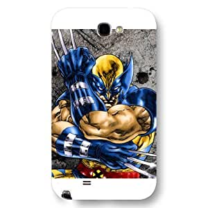 UniqueBox Customized Marvel Series Case for Samsung Galaxy Note 2, Marvel Comic Hero X-Men Wolverine Logan Samsung Galaxy Note 2 Case, Only Fit for Samsung Galaxy Note 2 (White Frosted Case) wangjiang maoyi