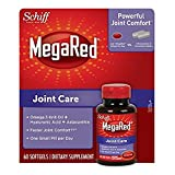 MegaRed Joint Care, Omega 3 Krill Oil, Hyaluronic Acid and Astaxanthin Supplement - Multisize Pack of 240 softgels total