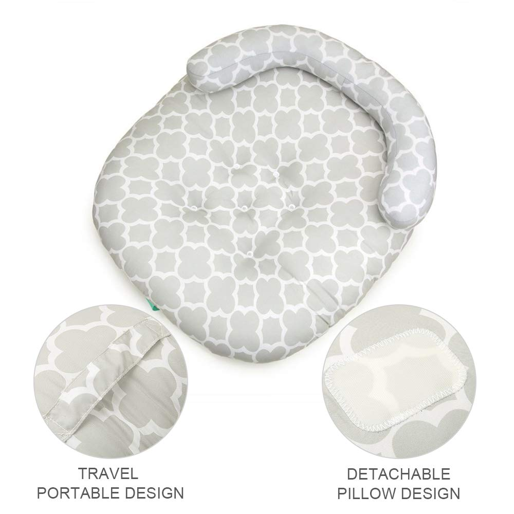 LOHOME Newborn Sleep Positioner Anti-Spitting Milk Pillow Portable Baby Sleeping Pad Cushion Mattress for Toddlers by LOHOME (Image #3)